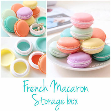 French Macaron Jewelry Storage box