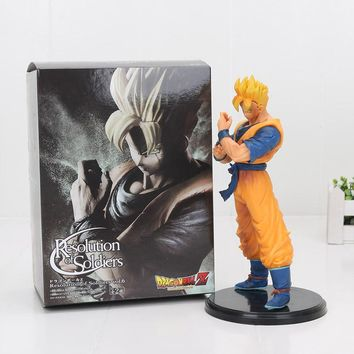 18CM Dragon Ball Z Resolution Of Soldiers ROS Super SaiYan Future Gohan PVC Action Figure Model Toy Figurals DBZ Vol.6