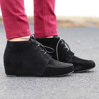 Campus Hidden Wedge Bootie {Black}