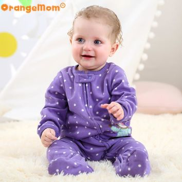 Brand 2017 baby girl clothes ,Micro fleece one pieces baby jumpsuits soft Pajamas for 0-24M baby clothing baby costumes