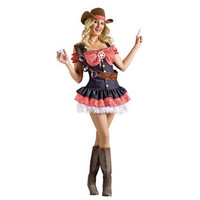 Fun World- -Sexy Womens Cowgirl Outfit Halloween Party Costume-Seasonal-Halloween-Womens Halloween Costumes