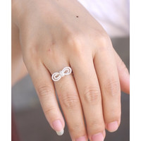 Simple Bow Silver Ring - Bow Ring - Gift For Girlfriend - A Perfect Ring