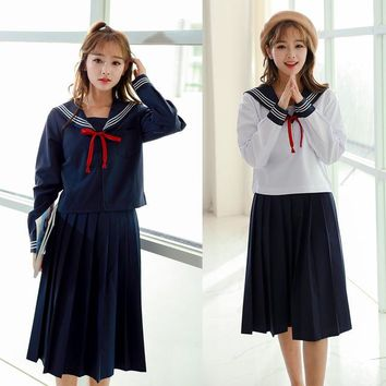 Kansai long skirt, Japanese school uniform suit, British class uniform, soft sister dress