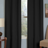 Microfiber Grommet Blackout Window Curtain Panel