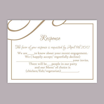 DIY Wedding RSVP Template Editable Text Word File Download Printable RSVP Cards Brown Rsvp Card Template Coffee Rsvp Card