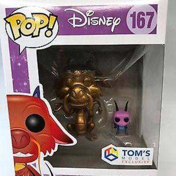 Funko Pop Disney - Mulan Mushu et Cricket Version Gold Exclusive 167 7111