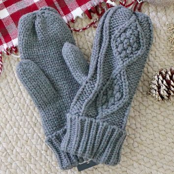 Winter Wonders Mittens - Charcoal