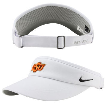 Nike Oklahoma State Cowboys Sideline Dri-FIT Adjustable Performance Visor - White