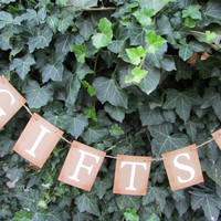 Gifts Banner / Heart Accent / GIFTS Sign / Wedding Decoration / Reception / Party Decor