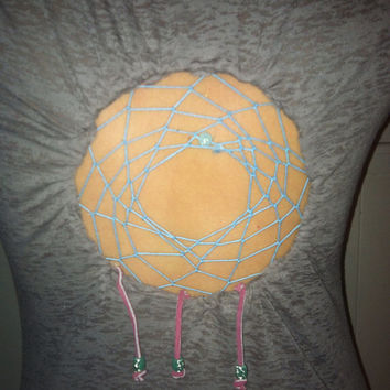 Grey pink and blue Dreamcatcher shirt  by Handspunhomegoods