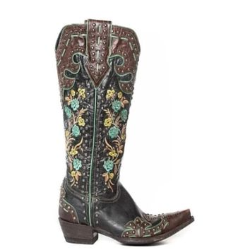 Double D by Old Gringo Round Up Rosie Boots~ Brass/Blue