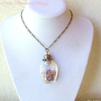 Adorable Vintage Perfume Bottle Necklace by CharmainesWhimzy
