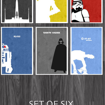 Star Wars Art Poster Set of 6 11x17