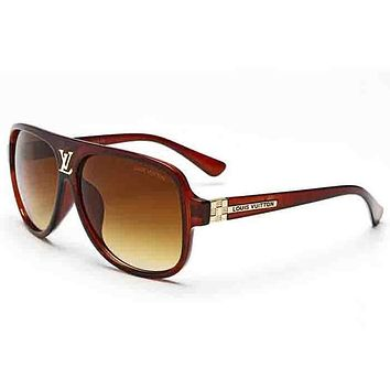 LV Fashionable Women Men Personality Summer Sun Shades Eyeglasses Glasses Sunglasses #4 I-ANMYJ-BCYJ