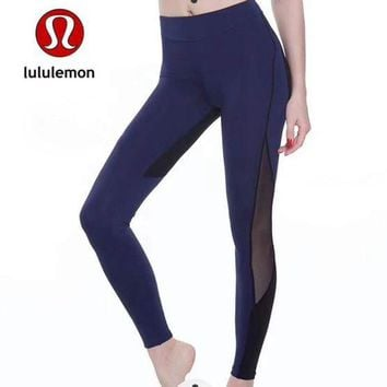 DCCKNQ2 Lululemon Women Fashion Gym Yoga Exercise Fitness Leggings Sweatpants