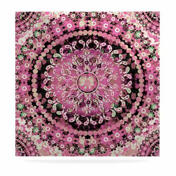 "Nina May ""Pink Mosaic Mandala"" Pink Beige Illustration Luxe Square Panel"