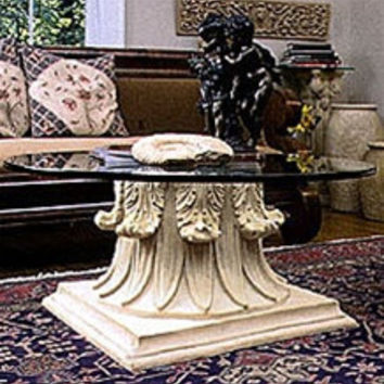 Classical Capital Interior Design Cocktail Table Base 17.75H   TAL610