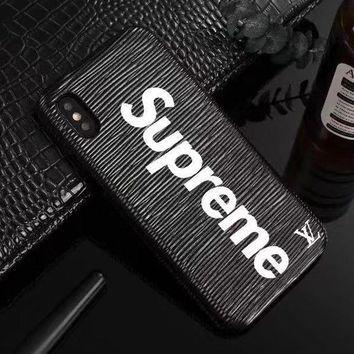 Perfect Louis Vuitton LV x Supreme Fashion iPhone Phone Cover Case For iphone 6 6s 6plus 6s-plus 7 7plus 8 8plus X
