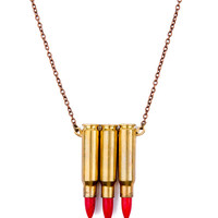 Red Triple Bullet Necklace