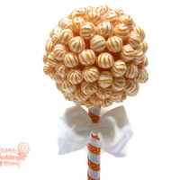 Small Orange Lollipop Topiary, Orange Candy Topiary, Orange Centerpiece, Orange, Wedding, Centerpiece, Topiary, Lollipop, Candy, Birthday