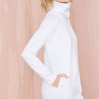 Nasty Gal Blank Out Scuba Sweatshirt