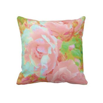 Vintage Rose Garden Pillows from Zazzle.com