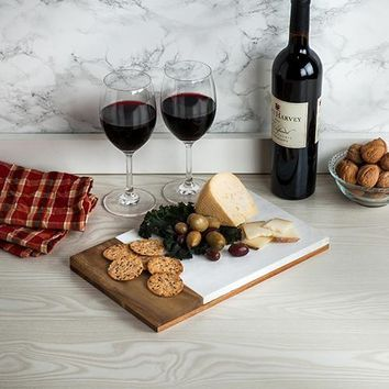 Country Cottage Marble & Wood Cheese Board