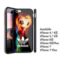 Best Adidas. Fire Ball Effect Colorful iPhone 6 6s 7 7+ X Hard Plastic Case