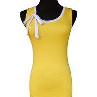 Sunshine Ribbon Tie Tank Top