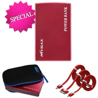 MYBAT External Battery (11000 mAh) Charger Bundle Pack - Red