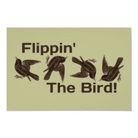 Flipping the Bird Poster from Zazzle.com