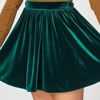 Stretch Velvet Skirt | Just Released | New & Now's Women | American Apparel