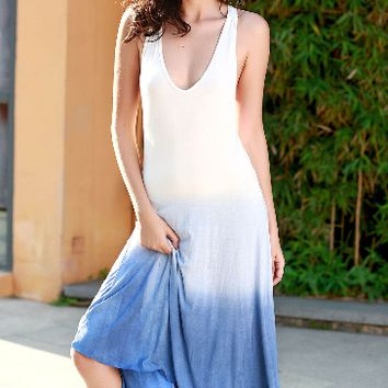 Casual Ombre Swing Dress