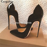 cocktail party lady sexy pumps gradient 12 cm stilettos top quality high heels patent leather shoes open toe high heels fashion