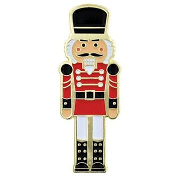 PinMart Festive Nutcracker Holiday Christmas Enamel Lapel Pin