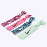 Nike Print Hairband 4-Pack in Pink and Green - Urban Outfitters