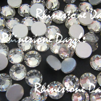 Quality ss20 Non Hotfix Clear Crystal Flatback Rhinestones, 5mm Non Hotfix Clear Crystal Flatback Rhinestones,100-1000 Non Hotfix Rhinestone