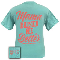 Girlie Girl Originals Mama Raised Me Better Arrow Comfort Colors T-Shirt