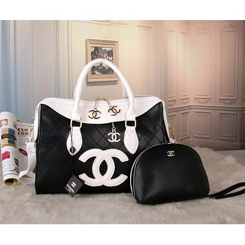 GUCCI classic ladies bag F-MYJSY-BB Black - white - white double c