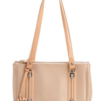 San Marco-Petite Leather Shoulder Bag