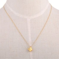 Dainty Crown Necklace