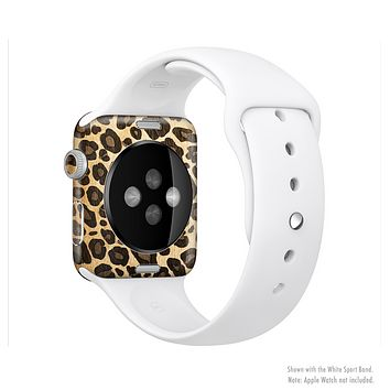 The Vibrant Leopard Print V23 Full-Body Skin Kit for the Apple Watch