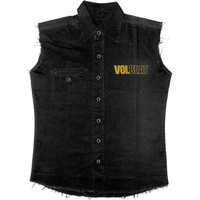 Volbeat Men's  Outlaw Gentlemen Work Shirt Black Rockabilia