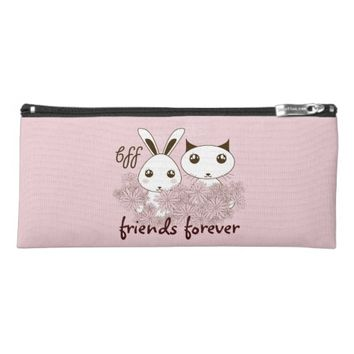 BFF - Best Friends Forever Cute Animal Girl Pink Pencil Case