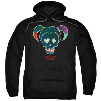 Suicide Squad - Harley Skull Adult Pull Over Hoodie Officially Licensed Apparel