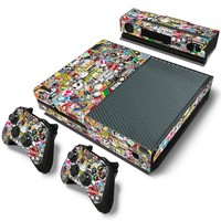 Bombing skin sticker for Microsoft xbox one vinyl protective cover sticker for xbox one console controle skin for xbox one
