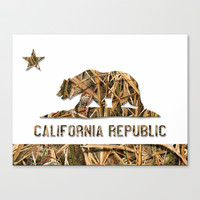 Weeds Camo California Bear Stretched Canvas by NorCal