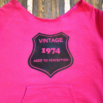 Personalized Aged to Perfection Flashback Fleece Crew