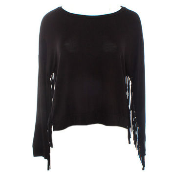 On The Road Top with Sleeve Fringe Detail