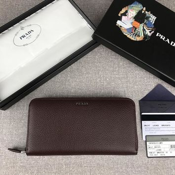 Kuyou Prada  Fashion Women Men Gb19531 2ml317 Single-zip Men's Wallet
